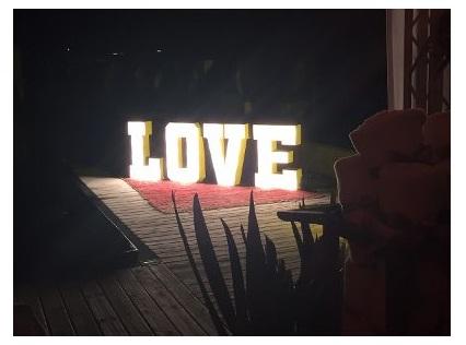 LETREIRO LOVE LUMINOSO - MDF